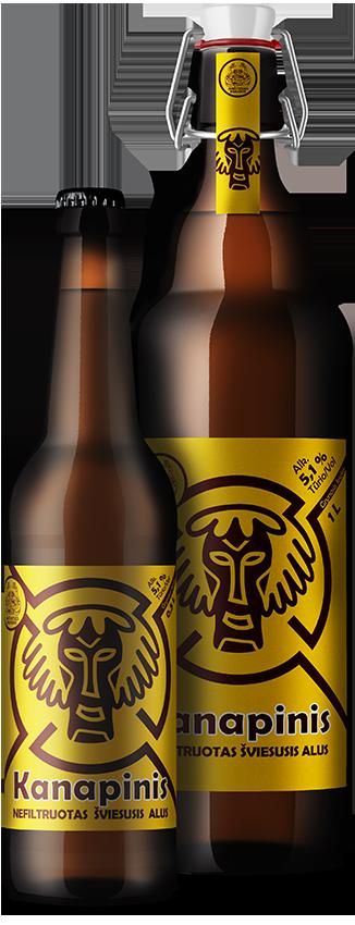 KANAPINIS светлое нефильтрованное пиво