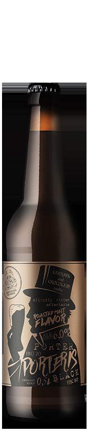 PORTERIS nefiltruotas juodasis alus